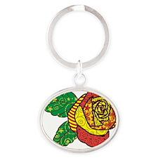 Rev Rose Oval Keychain