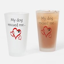 dogs are angels with fur Drinking Glass