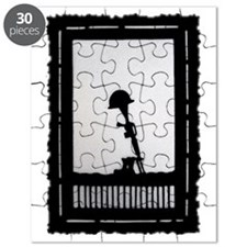 Helmet Rifle Boots postage stamp Puzzle
