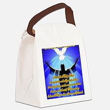 Jesus-Baptism-Gold Canvas Lunch Bag