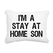 stay at home son Rectangular Canvas Pillow