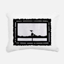 Iwo Jima postage stamp Rectangular Canvas Pillow