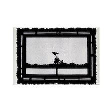 Iwo Jima postage stamp Rectangle Magnet