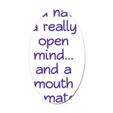 open-mind_tall1 Oval Car Magnet