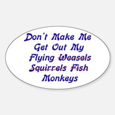 Flying Monkeys Oval Decal