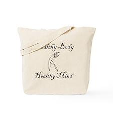 healthy body black 1 Tote Bag