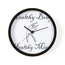 healthy body black 1 Wall Clock