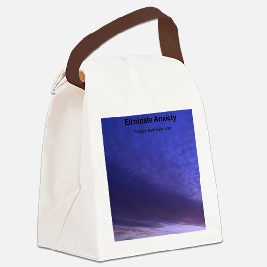 eliminate anxiety Canvas Lunch Bag