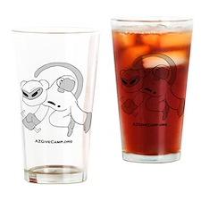 Ninja Code Monkey with web site Drinking Glass