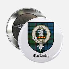 """McKinlay Clan Crest Tartan 2.25"""" Button (10 pack)"""