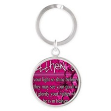 Matthew-5:16 Round Keychain