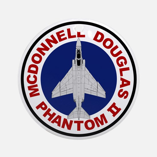 F-4 Phantom II Round Ornament