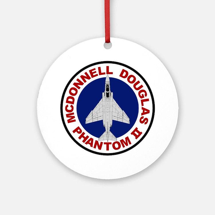 F-4 Phantom II Round Ornament