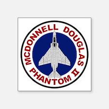 "F-4 Phantom II Square Sticker 3"" x 3"""