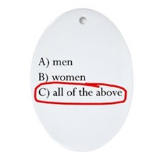All of the above Oval Ornament