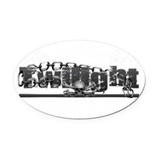 Twilight Grunge Floral Chains Skul Oval Car Magnet