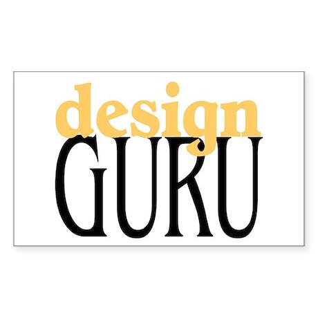 Design Guru Rectangle Sticker