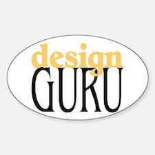 Design Guru Oval Decal