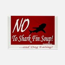 no-shark-fin-soup3 Rectangle Magnet
