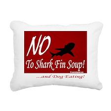 no-shark-fin-soup3 Rectangular Canvas Pillow
