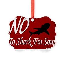 no-shark-fin-soup3 Ornament