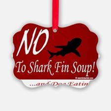 no-shark-fin-soup3 Ornament