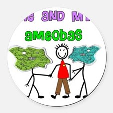 Amoebas and Me Round Car Magnet