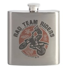 Radteamriders-final-fullred-distressed Flask