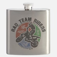 Radteamriders-final-colour-distressed Flask