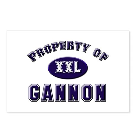 Property of gannon Postcards (Package of 8)