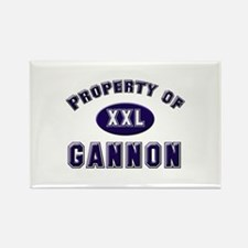 Property of gannon Rectangle Magnet