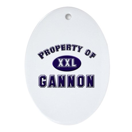 Property of gannon Oval Ornament