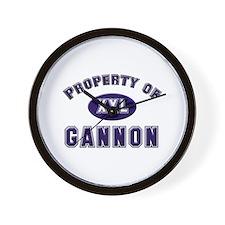 Property of gannon Wall Clock