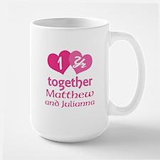 1st Anniversary Love Hearts Mugs
