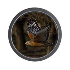 (14) Red Shouldered Hawk Flying Wall Clock