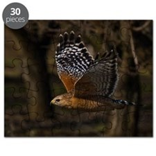 (14) Red Shouldered Hawk Flying Puzzle