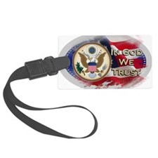 USA In God We Trust Luggage Tag