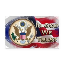 USA In God We Trust Rectangle Car Magnet