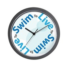 LiveSwim_Side2_Bub_T Wall Clock