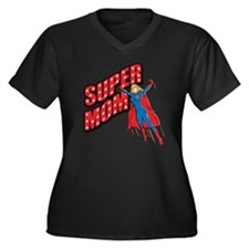 Super Mom Women's Plus Size Dark V-Neck T-Shirt