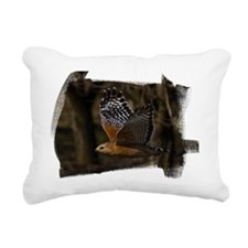 (16) Red Shouldered Hawk Rectangular Canvas Pillow