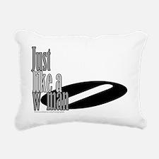 Just Like a Woman Rectangular Canvas Pillow