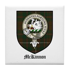 McKinnon Clan Crest Tartan Tile Coaster