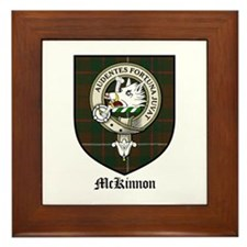 McKinnon Clan Crest Tartan Framed Tile