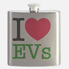 I Love Electric Vehicles Flask