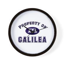 Property of galilea Wall Clock