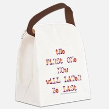 First Last-k Canvas Lunch Bag