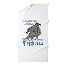 Real Girls Rescue Pitbulls Beach Towel