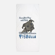 Real Girls Rescue Pitbulls Beach Towel