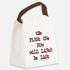 First Last Canvas Lunch Bag